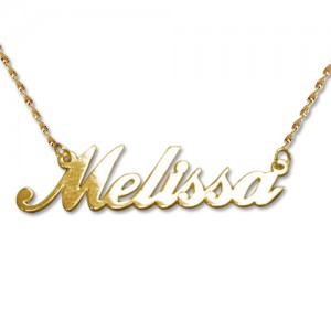 collier prenom personnalise or